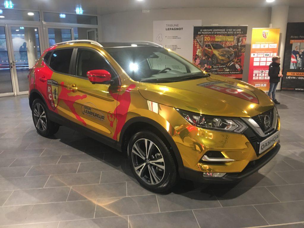 Covering Chrome Nissan qashkai RC lens