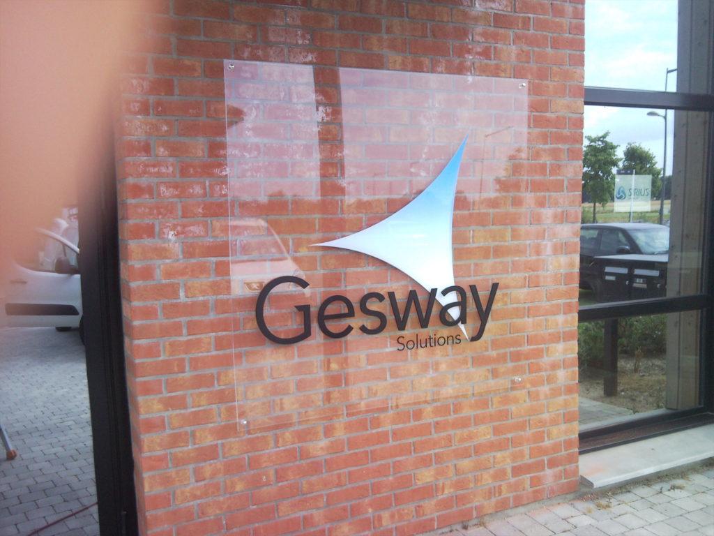 Plaque Plexiglas pour Gesway à Villeneuve d'ascq